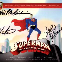 superman animated series autographed