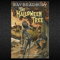Halloween tree on background for website