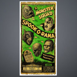 monster squad green print on gradient for website
