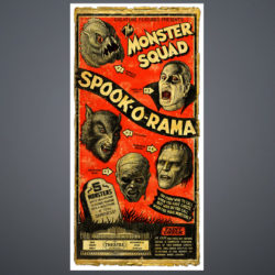 monster squad red print on gradient for website