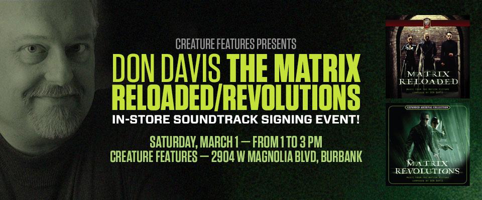 Don Davis The Matrix Reloaded/Revolutions Signing